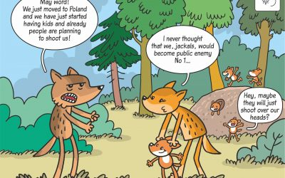 06.04.2020 – Science cartoon on golden jackal reproduction in Poland!