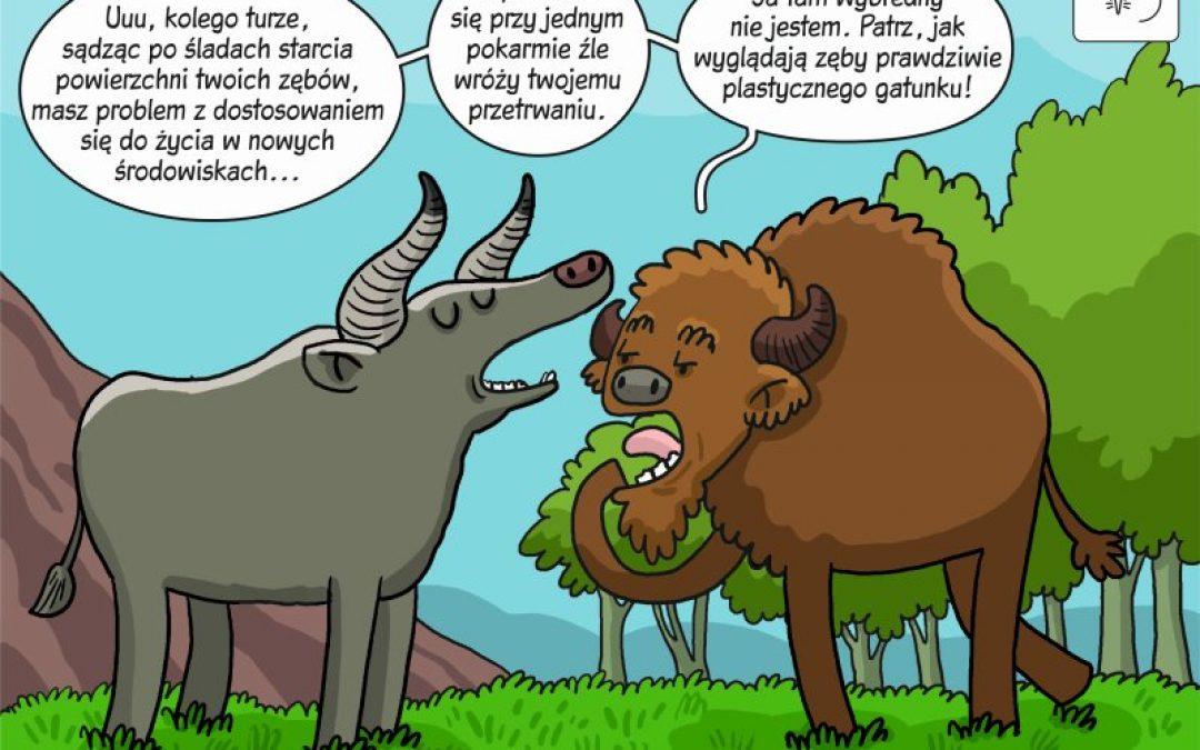 Komiks naukowy o wpływie zmian środowiskowych w holocenie na dietę dużych roślinożerców