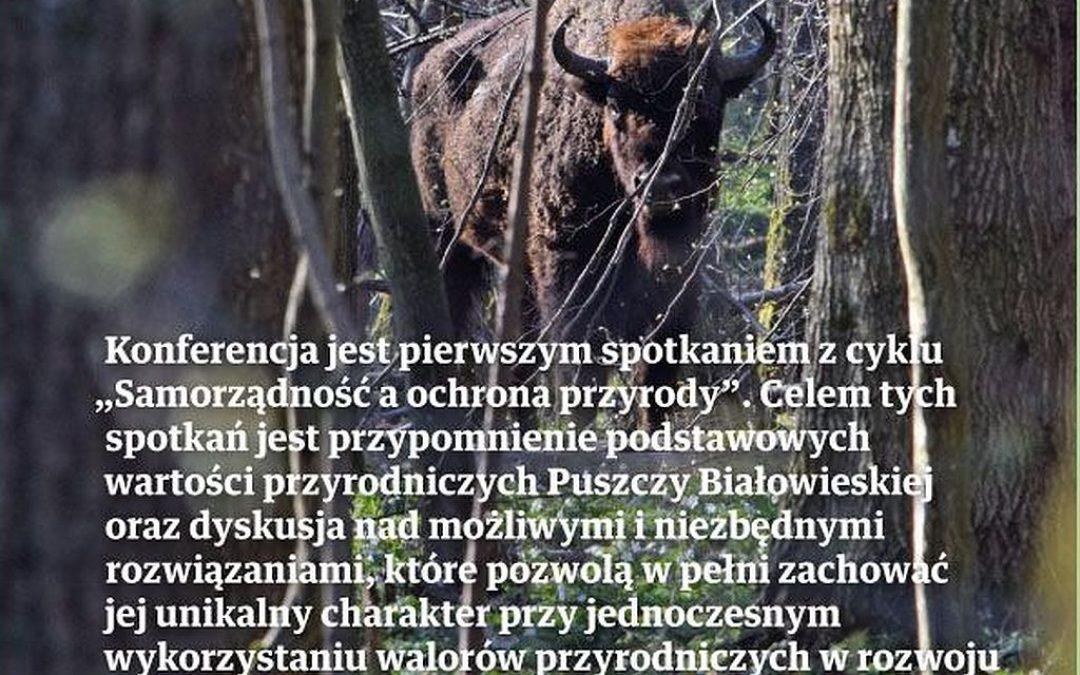 """07.12.2019 – Konferencja """"Samorządność a ochrona przyrody"""""""