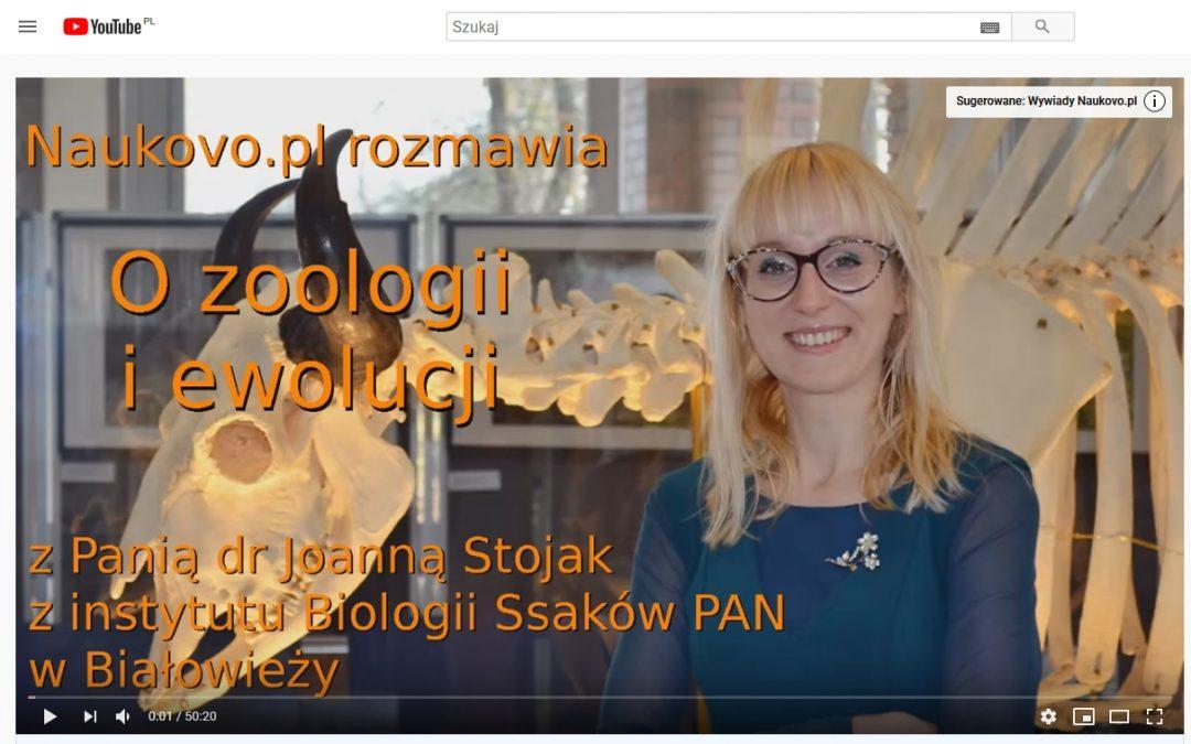 25.08.2020 – Wywiad o zoologii i ewolucji dla Naukovo.pl