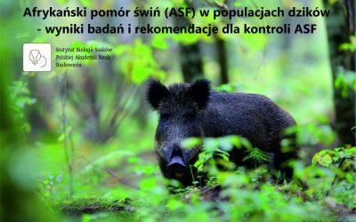 """01.09.2020 – Raport """"ASF w populacjach dzików"""""""