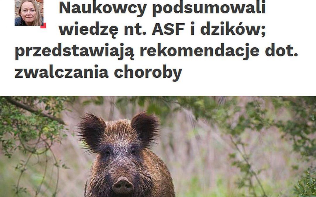 07.09.2020 – Nauka w Polsce o raporcie IBS PAN na temat ASF