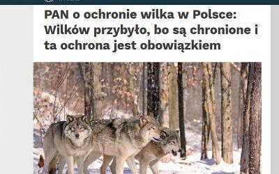 09.03.2021 – Komisja PAN o ochronie wilka!