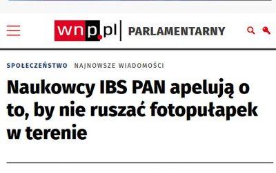 01.04.2021 – Fotopułapki w badaniach IBS PAN.