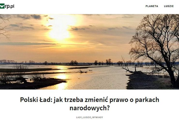 02.06.2021 – Wywiad z Dyrektorem IBS PAN na temat parków narodowych i Polskiego Ładu!