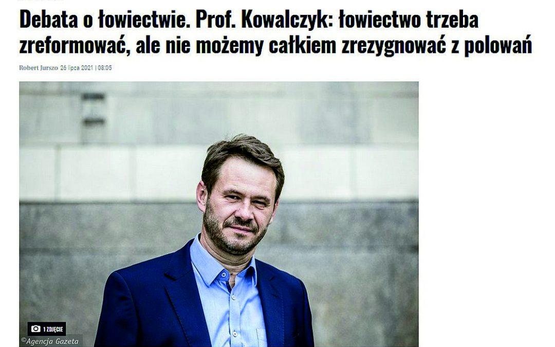 26.07.2021 – Wywiad z dyrektorem IBS PAN na temat łowiectwa w Polsce